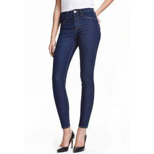 H & M Skinny High Rise Ankle Length Jeans 28 Reg.